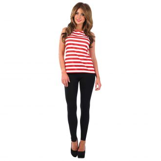 Womens Red & White Top Costume
