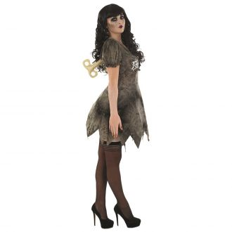 Womens Zombie Wind Up Doll Costume