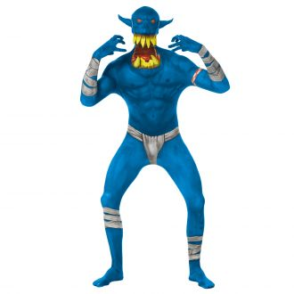 Jaw Dropper Orc Morphsuit - Blue