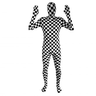 Black and White Check Morphsuit